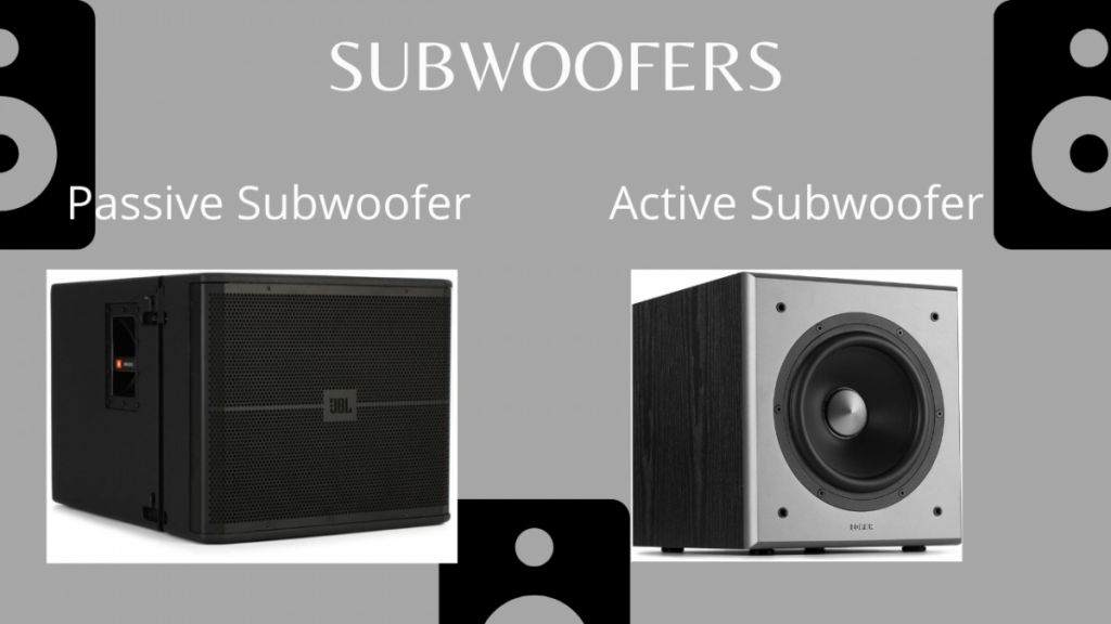 Passive and active subwoofers