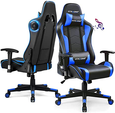 GTR Gaming Chair with Speakers Bluetooth